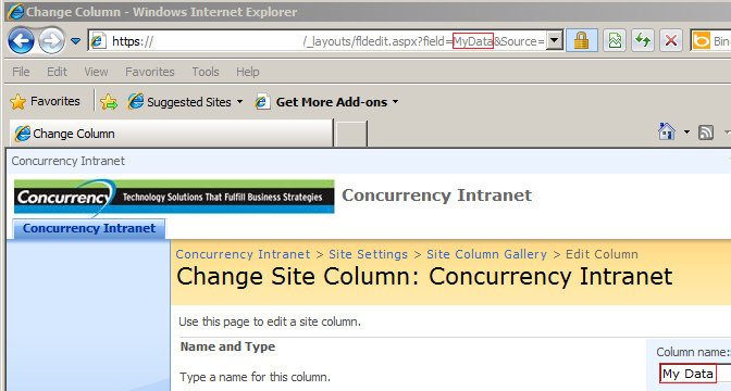 Clean SharePoint Column URL