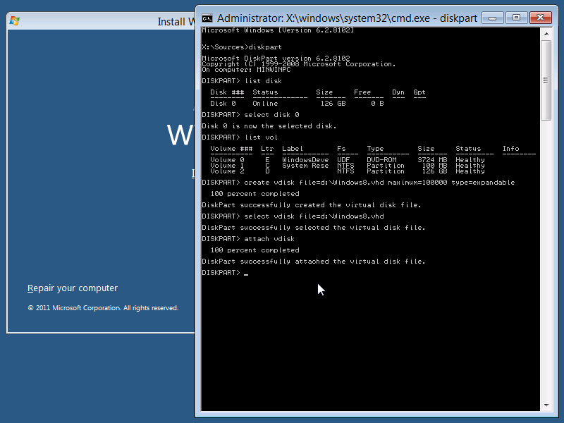 Dual Boot Windows 8 From Vhd Using Windows Setup Concurrency