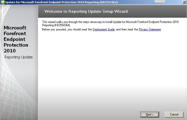 How to Install Update Rollup 1 for Forefront Endpoint