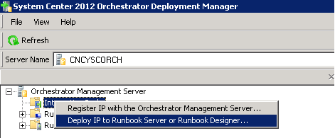 Importing System Center Orchestrator 2012 Integration Packs