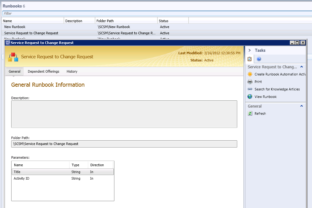 Creating Change Requests from Service Requests using System Center ...