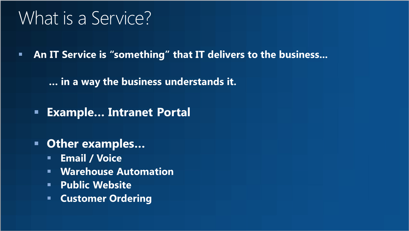 Understanding Business Services In Service Manager Concurrency