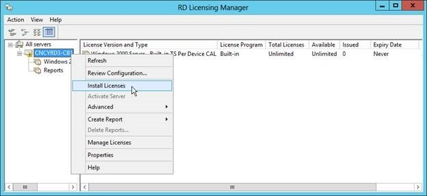 RDS8 – Add a Licensing Server - Concurrency