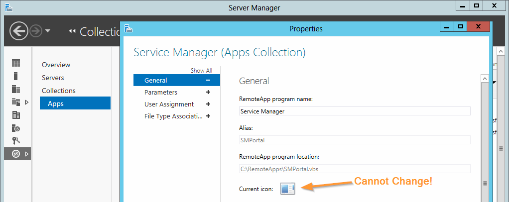 Change the RemoteApp Icon on WS2012 - Concurrency