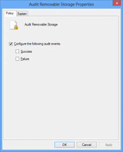 Audit Removable Storage