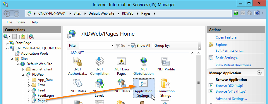 Remote Desktop can't find the Computer through RDWeb and