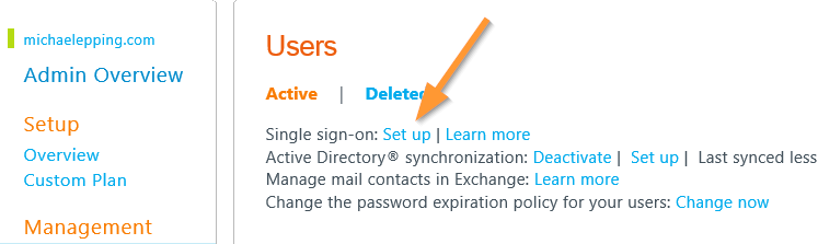 Make sure not to deactivate Dirsync.