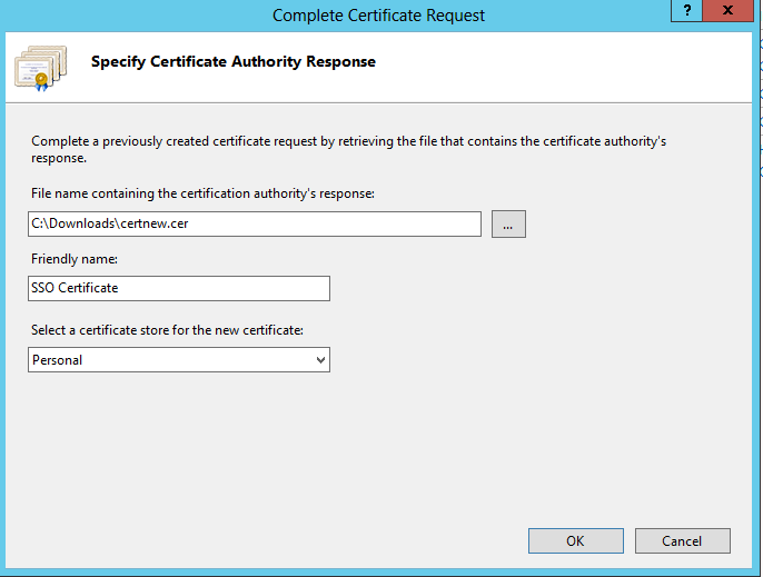 The Friendly Name field can be useful if you have more than one certificate on the AD FS server.