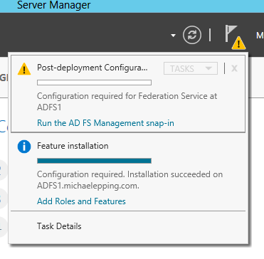 You can also run this wizard by opening the AD FS Management Console from the Administrative Tools menu.