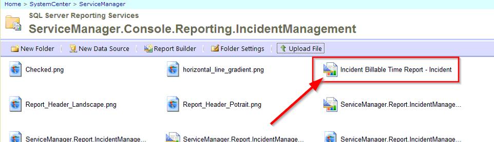 SSRS Incident Billable Time Report Incident Folder image