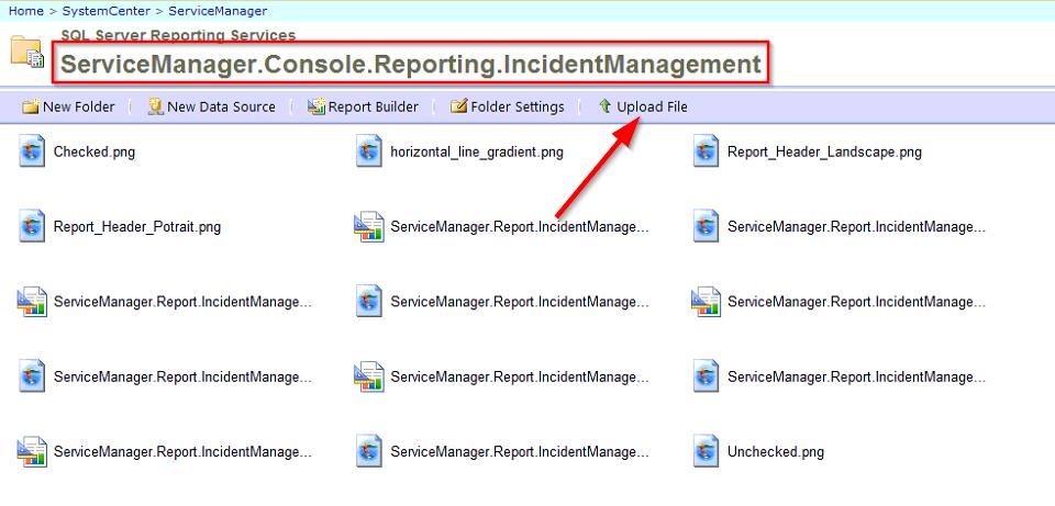 SSRS Incident Management Folder Reports image