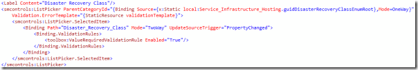 Service Manager Custom Forms validation image