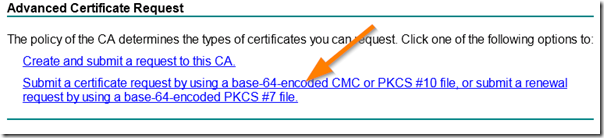 Submit an Advanced Certificate Request