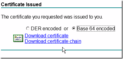 Download the Certificate and Certificate Chain