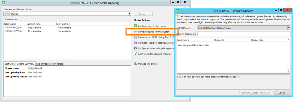 Configure Cluster-Aware Updating for Windows Server 2012 Failover