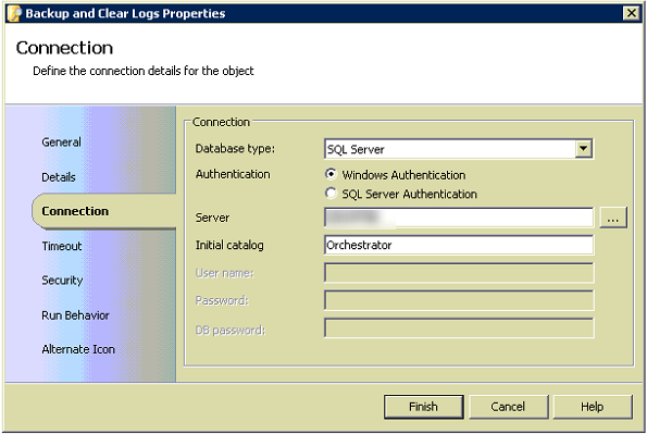 Clear Orchestrator Logs SQL Script Activity Connection Image