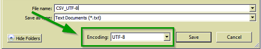 SCSM CSV Import UTF Encoding Image