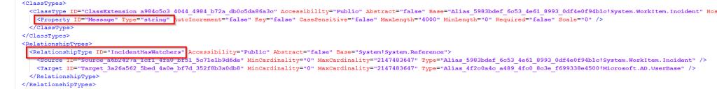 SCSM Customize Incident Class Image