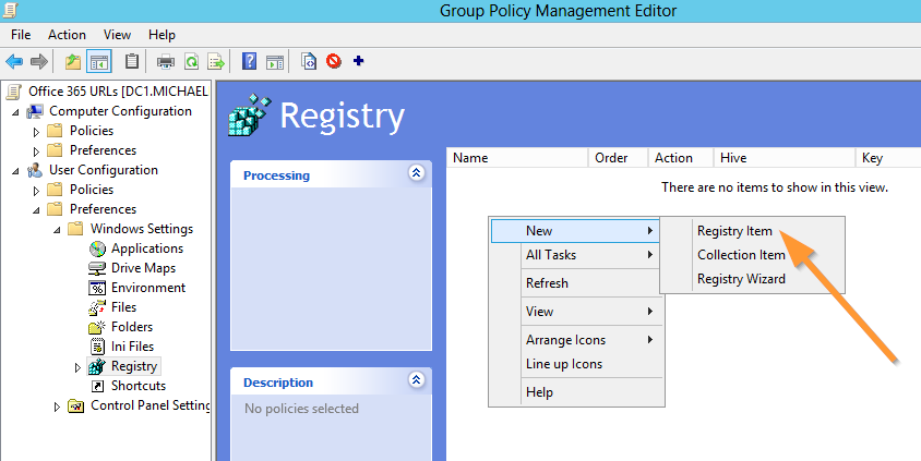 Configure URLs for Office 365 Using Group Policy and the Registry