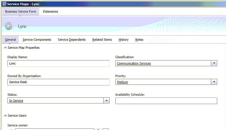 Default Business Service Form Image