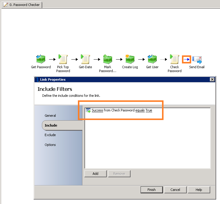 Safe Password Scanner with Orchestrator, Service Manager