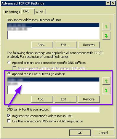 DNS Suffix Image