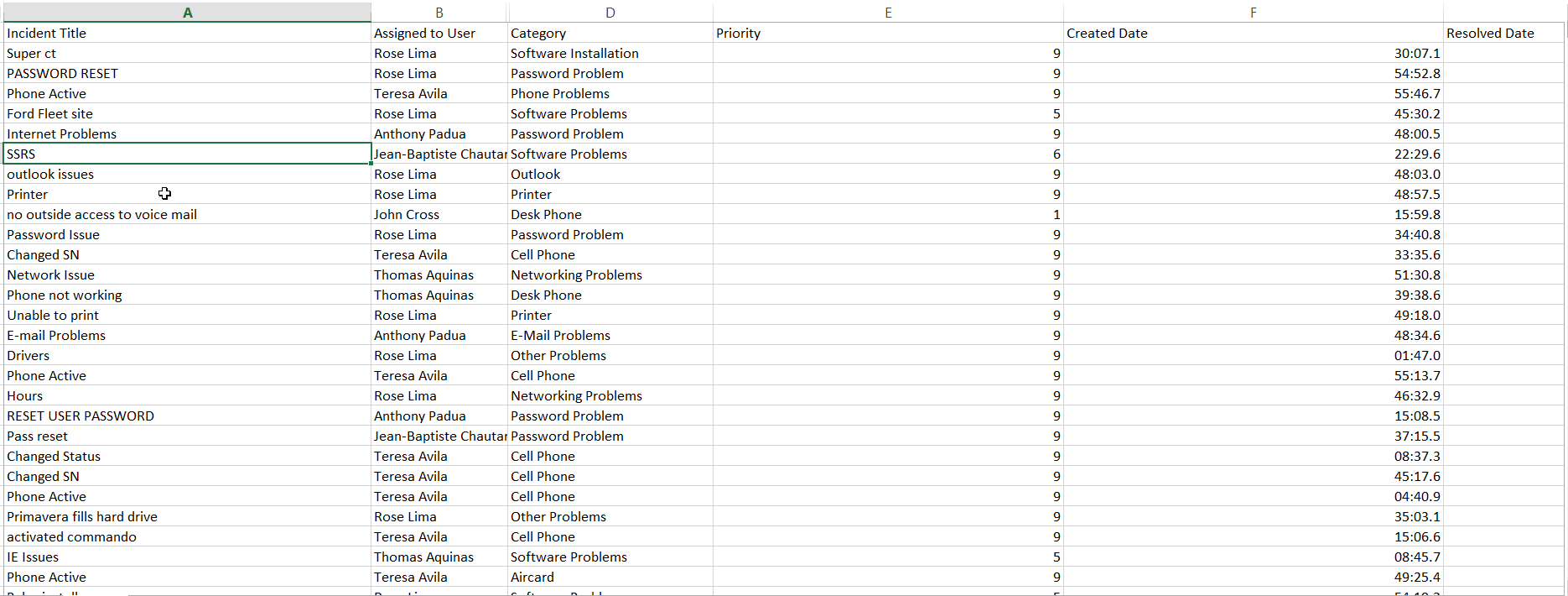 10. Excel Demo