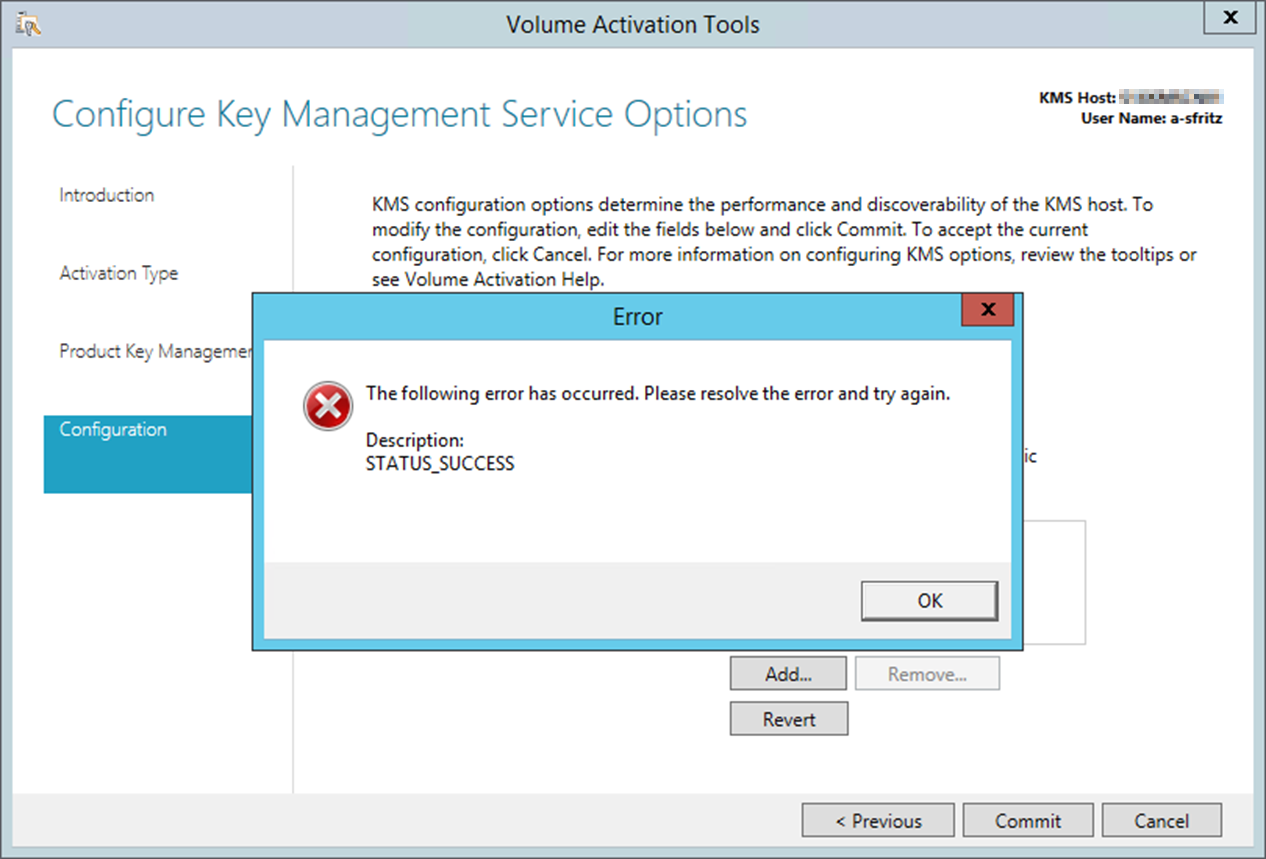 office 2013 not activating from kms server