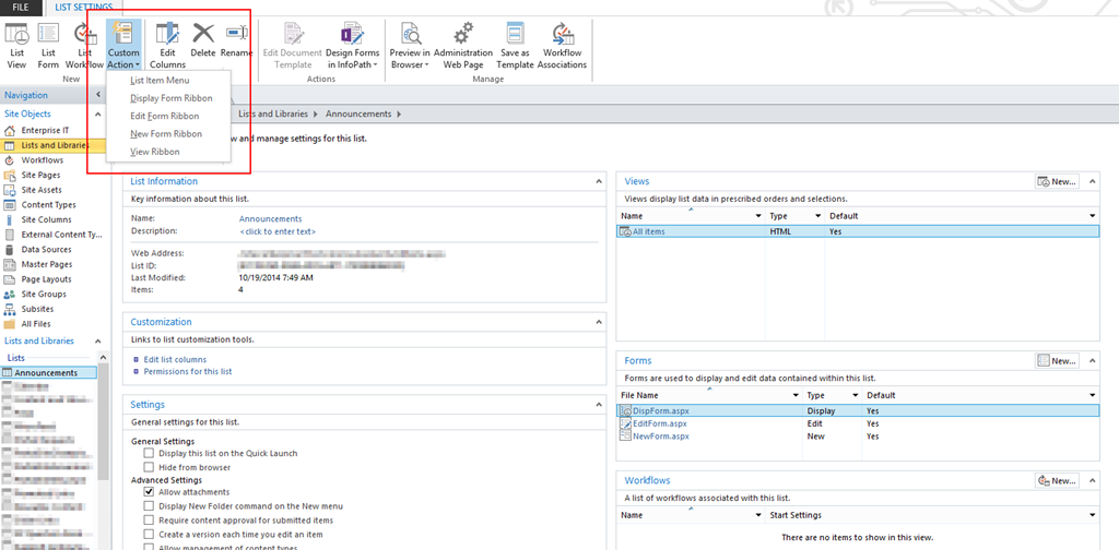 SharePoint Designer Custom Actions - Concurrency
