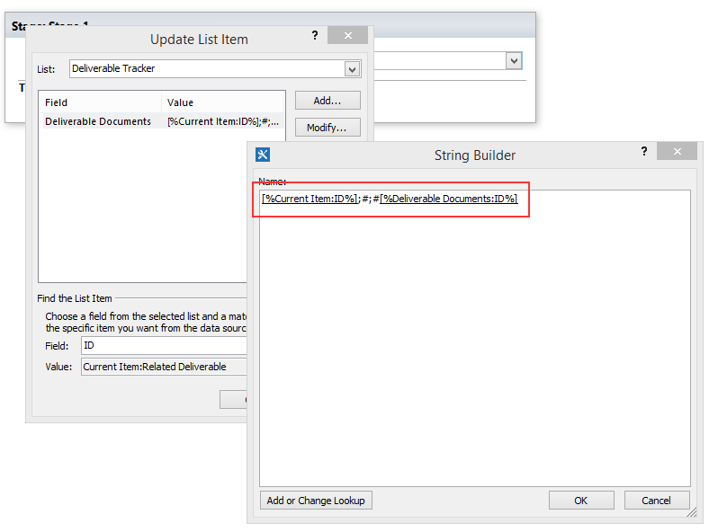 Setting a Multi-Value Lookup Column Using SharePoint